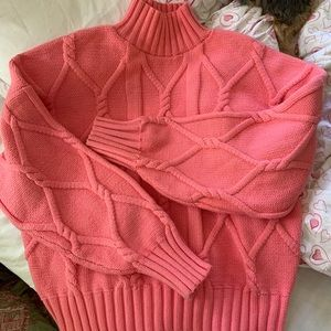 J. Crew Collection Pink Mock Turtleneck Sweater XL